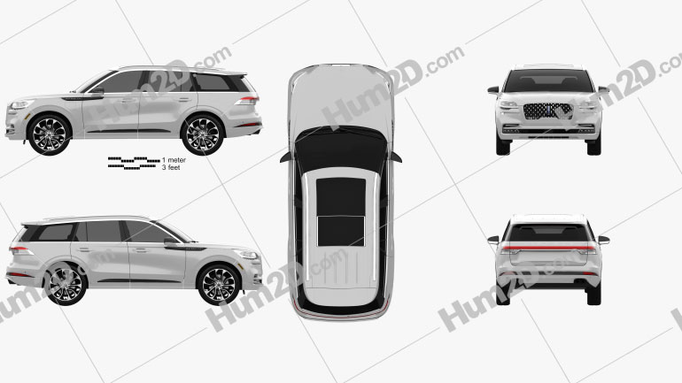 Lincoln Aviator Grand Touring 2019 car clipart