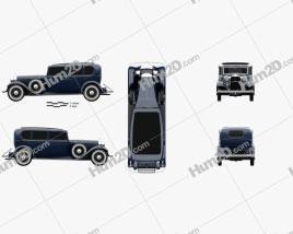 Lincoln KB Limousine 1932 car clipart