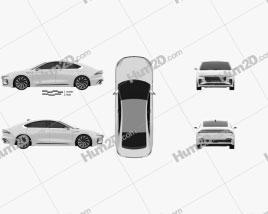 Lincoln Zephyr Reflection 2021 car clipart