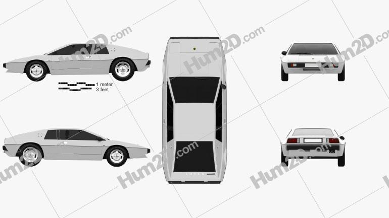 Lotus Esprit S1 1976 Clipart Image