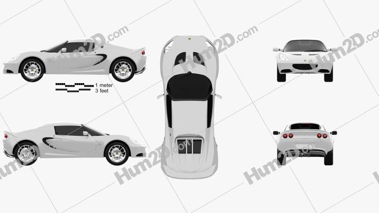 Lotus Elise S 2012 car clipart