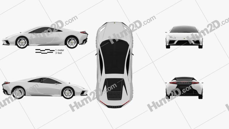 Lotus Esprit 2010 car clipart