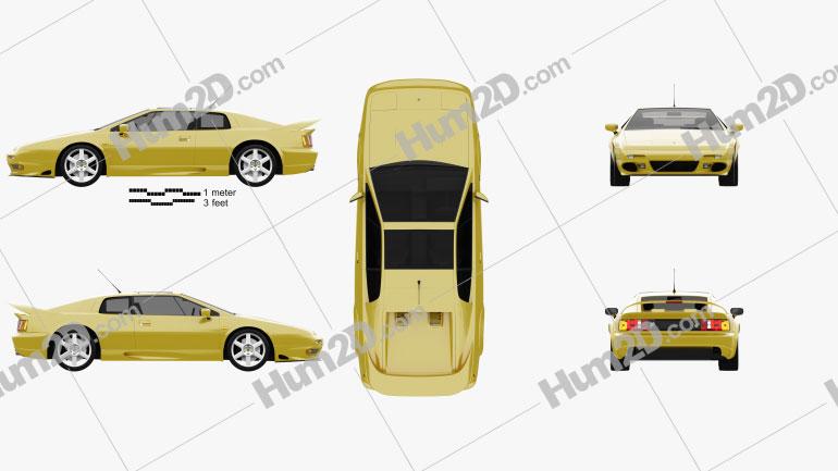 Lotus Esprit 1996 car clipart