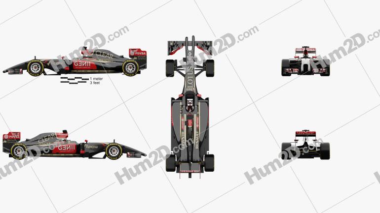 Lotus E22 2014 car clipart