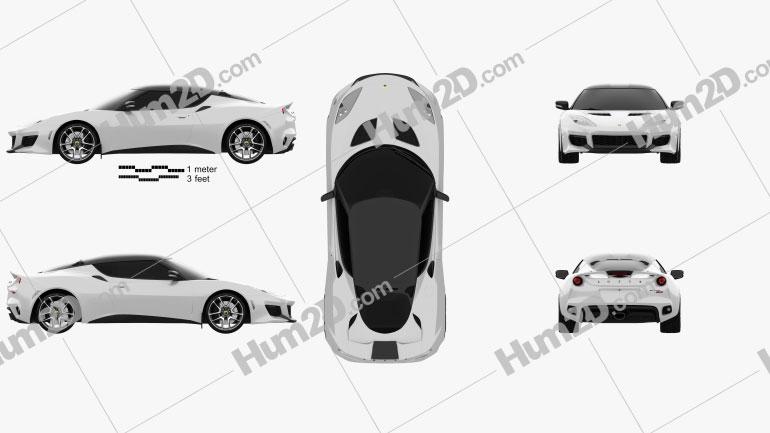 Lotus Evora 400 2014 car clipart