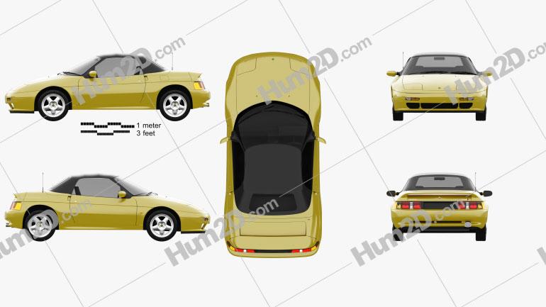 Lotus Elan S2 1994 car clipart