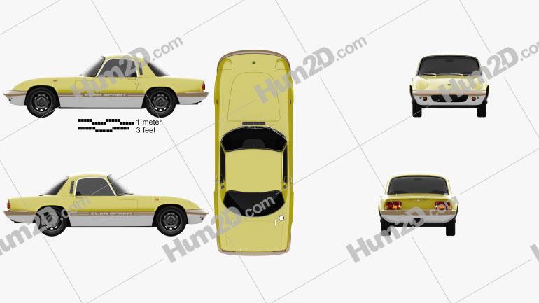 Lotus Elan Sprint Fixed-head Coupe 1971 car clipart