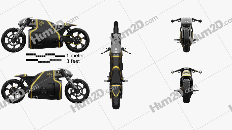 Lotus C-01 2014 Motorcycle clipart
