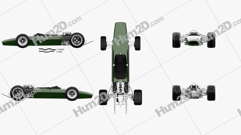Lotus 49 1967 car clipart