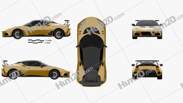 Lotus Evora GT 430 2018 car clipart