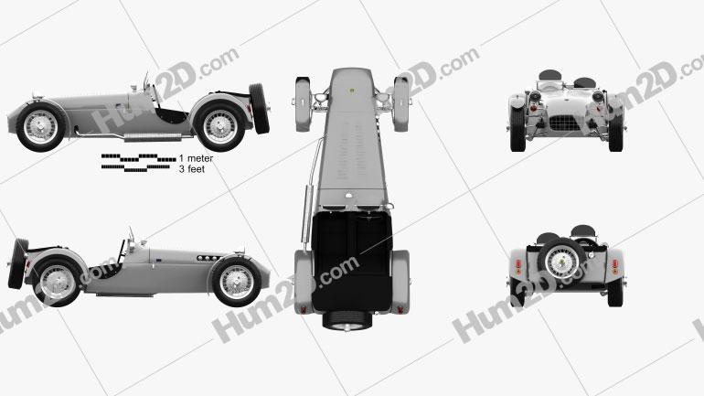 Lotus Seven 1957 car clipart