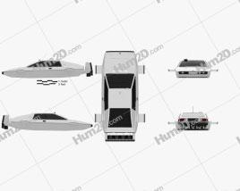 Lotus Esprit James Bond Wet Nellie 1977 car clipart