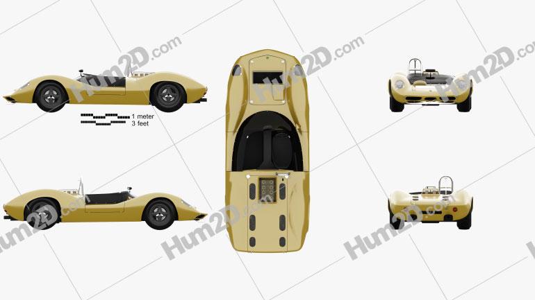 Lotus 30 1964 car clipart