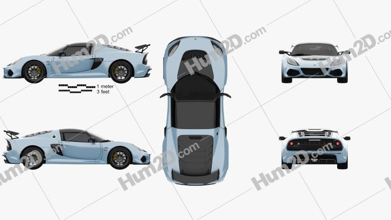 Lotus Exige Sport 410 2018 car clipart