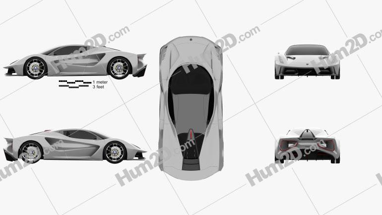 Lotus Evija 2020 Clipart Image