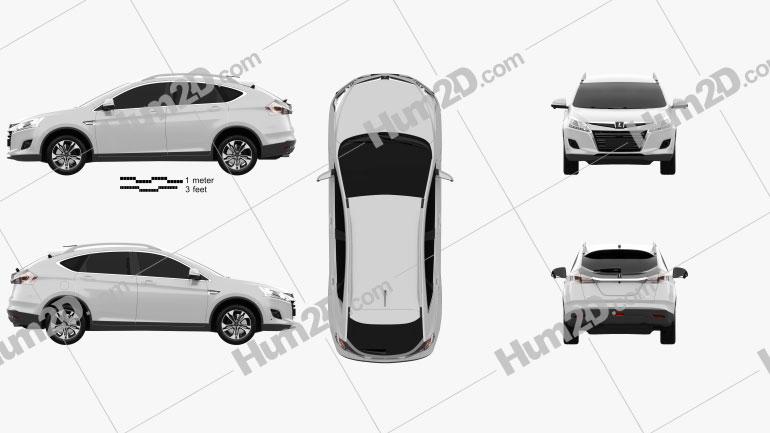 Luxgen U6 Turbo 2013 car clipart