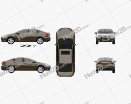 Luxgen 5 Sedan 2012 car clipart