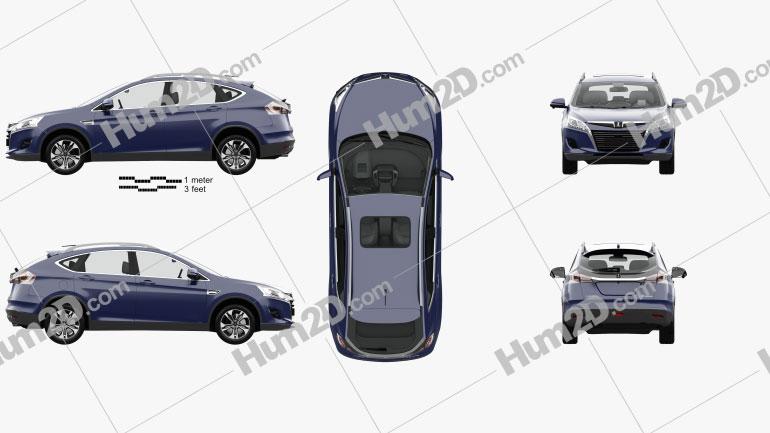 Luxgen U6 Turbo with HQ interior 2013 car clipart