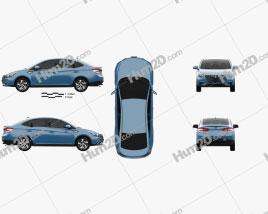 Luxgen S3 2017 car clipart