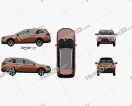 Luxgen URX 2019 car clipart