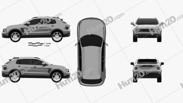 Lynk & Co 01 City 2016 car clipart