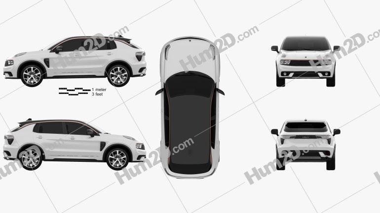 Lynk & Co 01 Sport 2016 car clipart