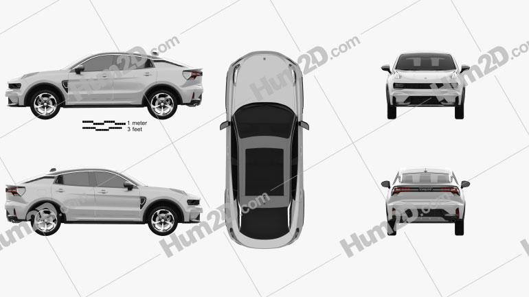 Lynk & Co 05 2019 car clipart