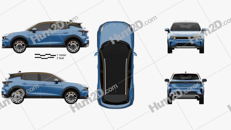 Lynk & Co 06 2021 car clipart
