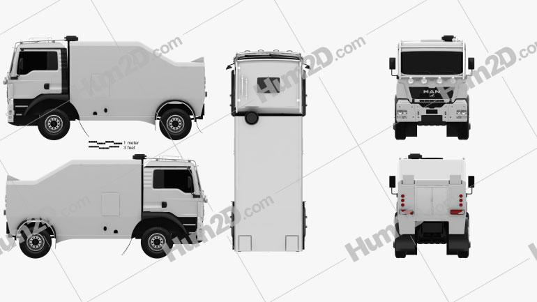 MAN TGS Rally Truck 2012 clipart