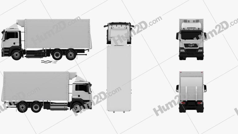 MAN TGS Refrigerator Truck 2012 clipart