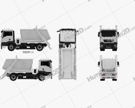 MAN TGS Skip Loader Truck 2012