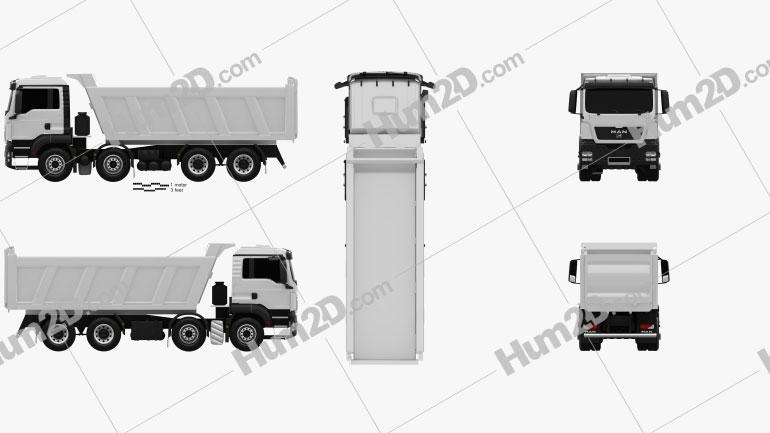 MAN TGS Tipper Truck 2012 clipart