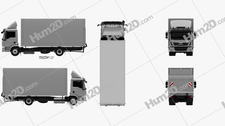 MAN TGL Box Truck 2012 clipart