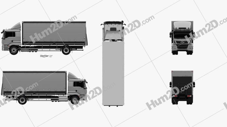 MAN TGM Box Truck 2012 clipart