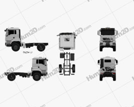 MAN TGS 4×4 L cab Tractor Truck 2007 Clipart