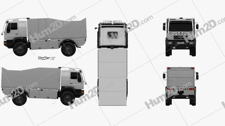MAN L90 Rally Truck 2000 clipart