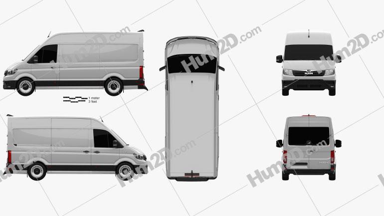 MAN TGE Panel Van L1H2 2017 clipart