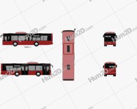 MAN Lion's City M Bus 2006 Clipart