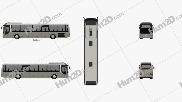 MAN Lion's Regio C Bus 2008 clipart