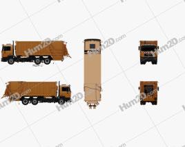 MAN F2000 Garbage Truck 1990