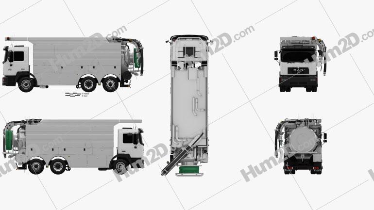 MAN F2000 Sewer Truck 1994 clipart