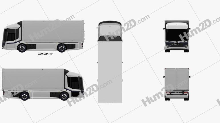MAN CitE Box Truck 2018 clipart