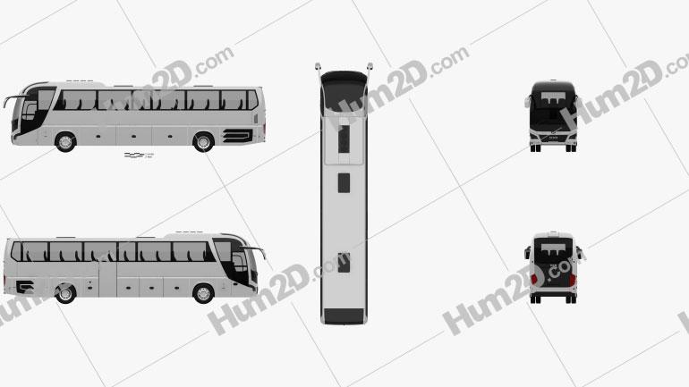 MAN Lion's Coach C Bus 2017 clipart