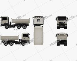 MAN TGS M Day Cab Meiller-Kipper D316 Tipper Truck 3-axle 2012