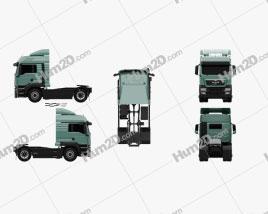 Tractor Truck 2-axle clipart