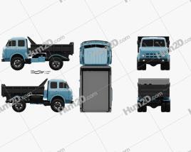 MAZ 503A Dump Truck 1970 Clipart