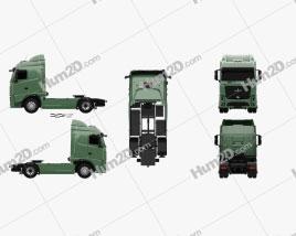 MAZ 5440 M9 Tractor Truck 2015 clipart