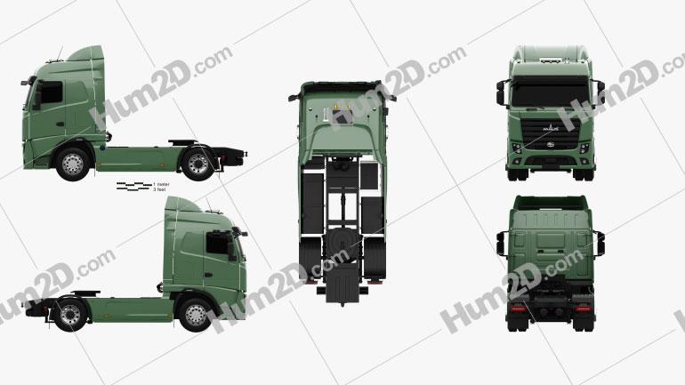 MAZ 5440 M9 Tractor Truck 2015