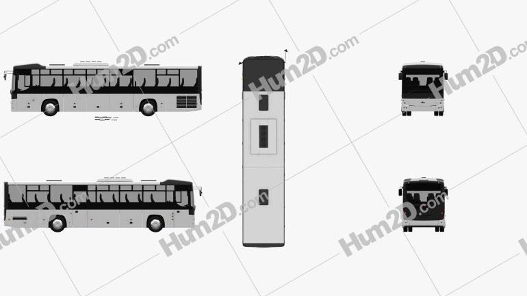 MAZ 231062 Bus 2016 Clipart Bild