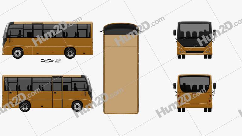 MAZ 241030 Bus 2016 Clipart Image